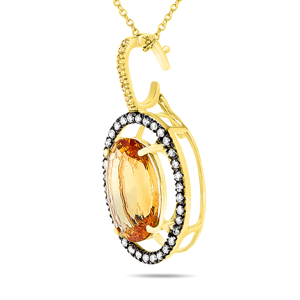 14k Yellow Gold Citrine Necklace/Pendants
