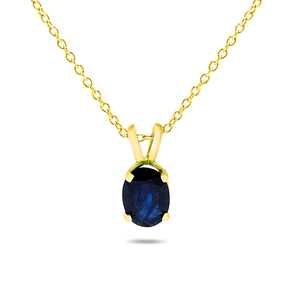 14k Yellow Gold Sapphire Necklace/Pendants