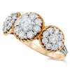 14k Yellow Gold Diamond Rings