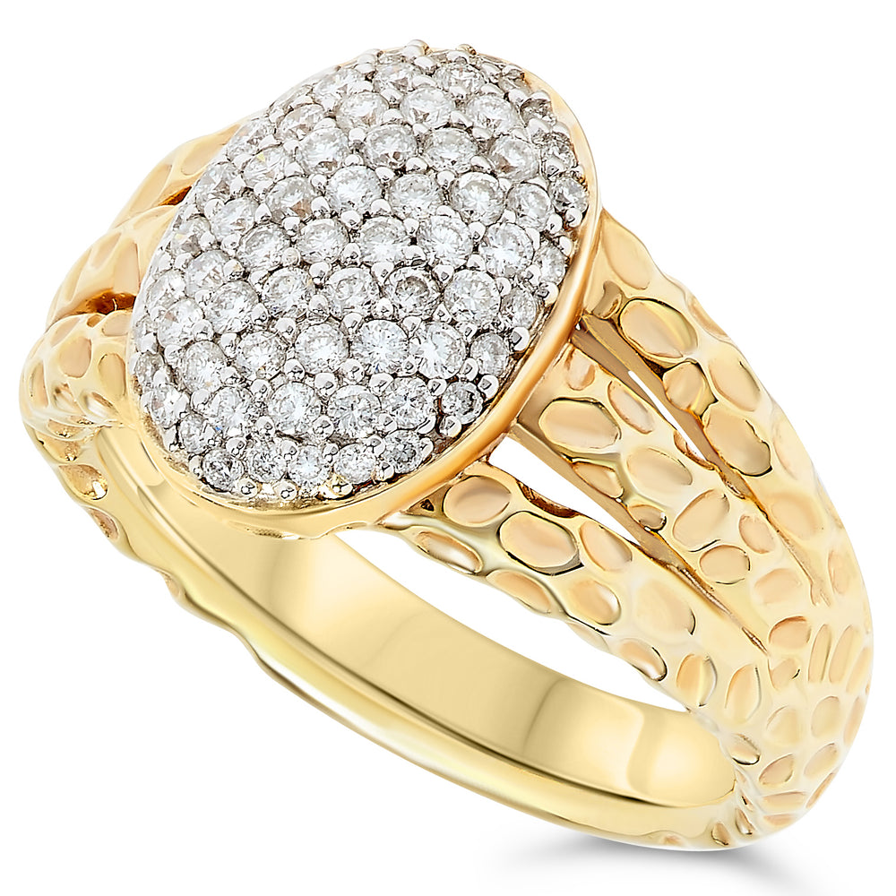 18k Yellow Gold Diamond Rings