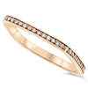 18k Rose Gold Diamond Rings