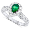 14k White Gold Emerald Rings