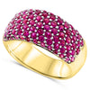 18k Yellow Gold Ruby Rings