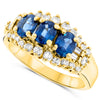 18k Yellow Gold Sapphire Rings