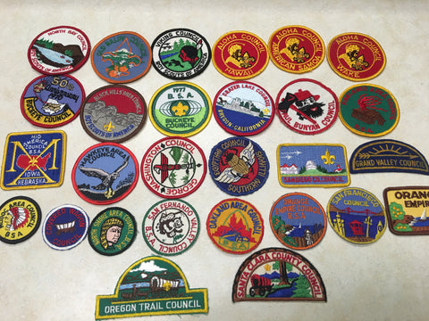 Boy Scout Council Patches - CP's