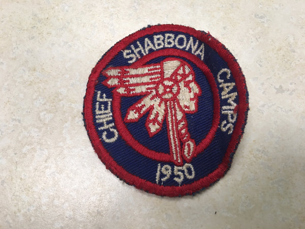 1950 Chief Shabbona Camps Camp Patch