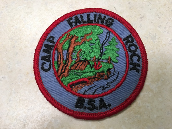 Camp Falling Rock Rolled Edge Twill Camp Patch