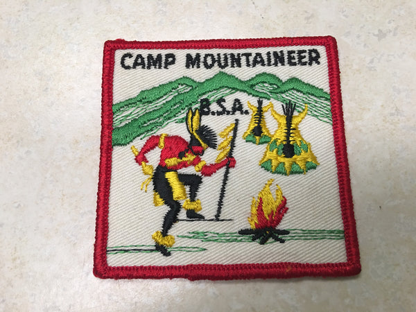 Camp Mountaineer Rolled Edge Twill Camp Patch