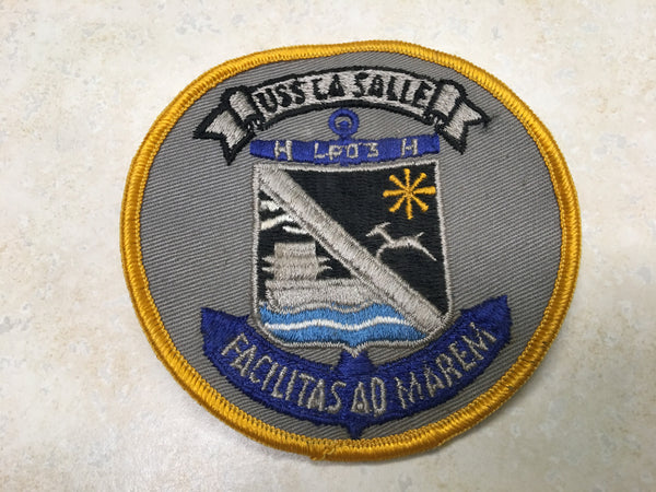 Vintage USS La Salle Navy Ship Patch