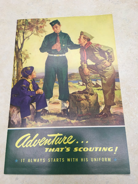 1950's Adventure Thats Scouting Uniform Pamphlet
