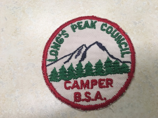 Longs Peak Council Camper Cut Edge Twill Camp Patch