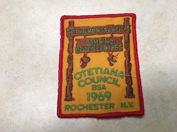 1969 Otetiana Council Philmont Contingent Patch
