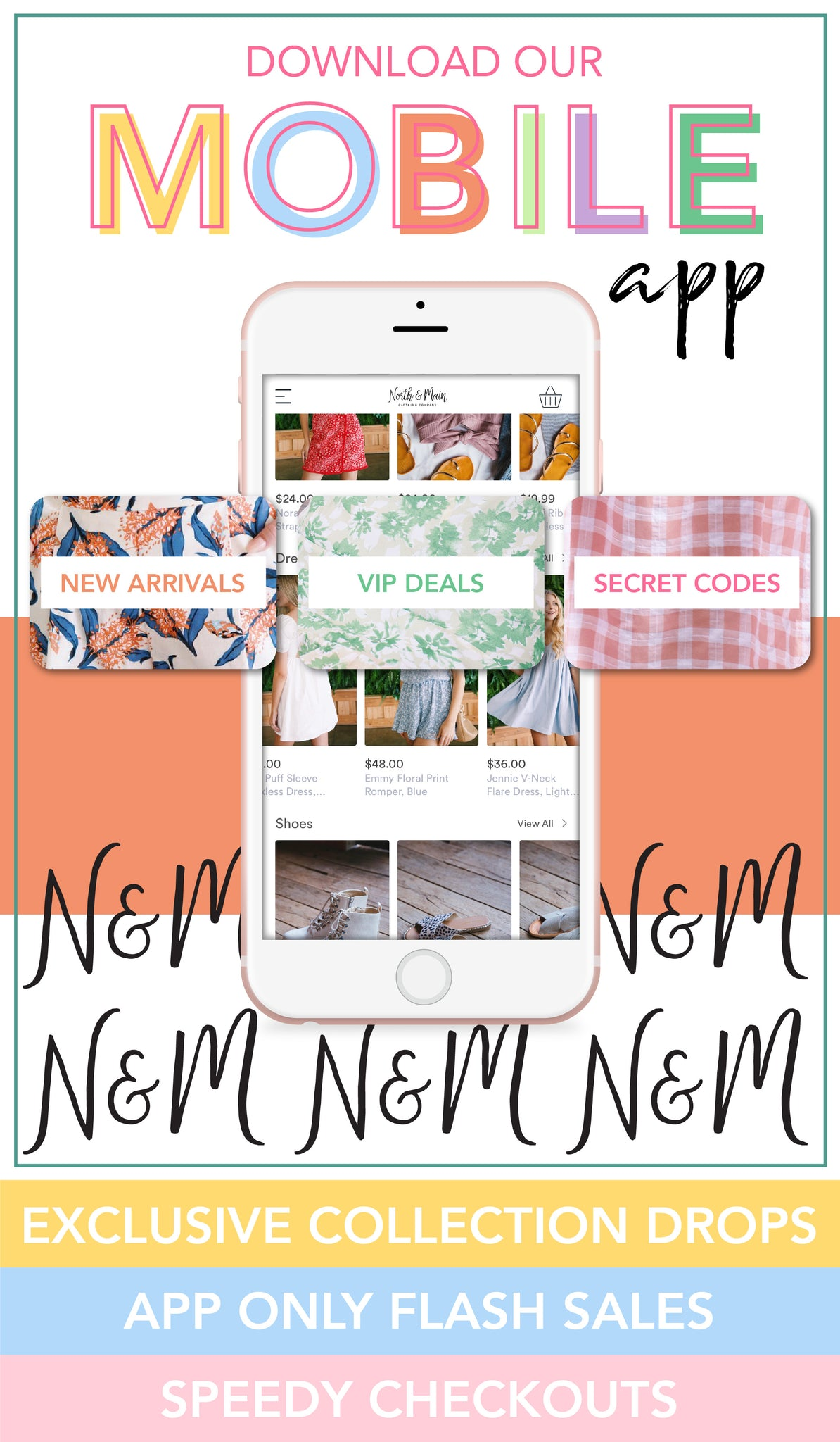 North & Main Clothing Co Mobile App