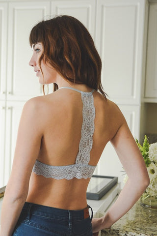 T Lace Back Bralette - The Loft Boutique - Clothing  - 2
