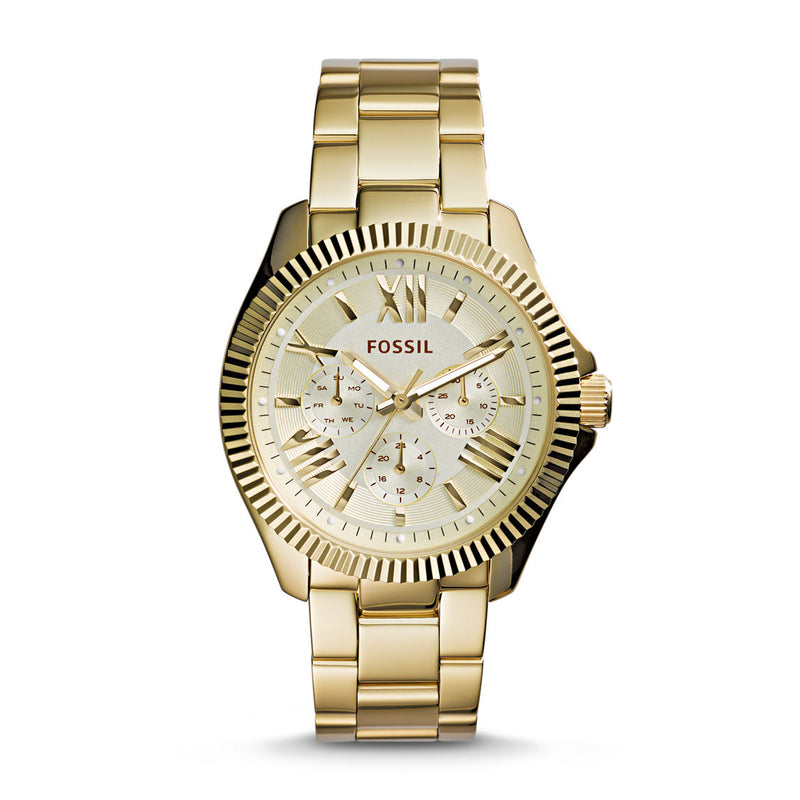 Fossil Cecile Multifunction Etched Watch, Gold