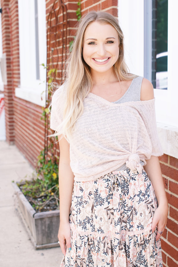 Beach Day Sweater Tee, Blush