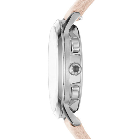 Abilene Chronograph Leather Watch, Blush