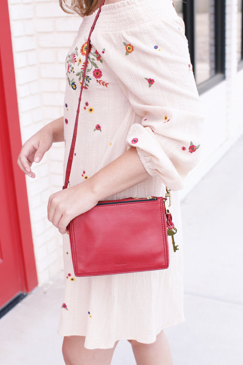 Campbell Crossbody, Red Velvet | Fossil®