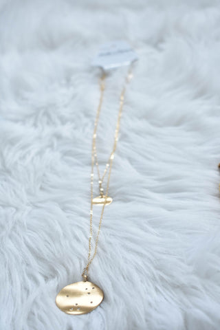 Layered Circle Necklace, Gold