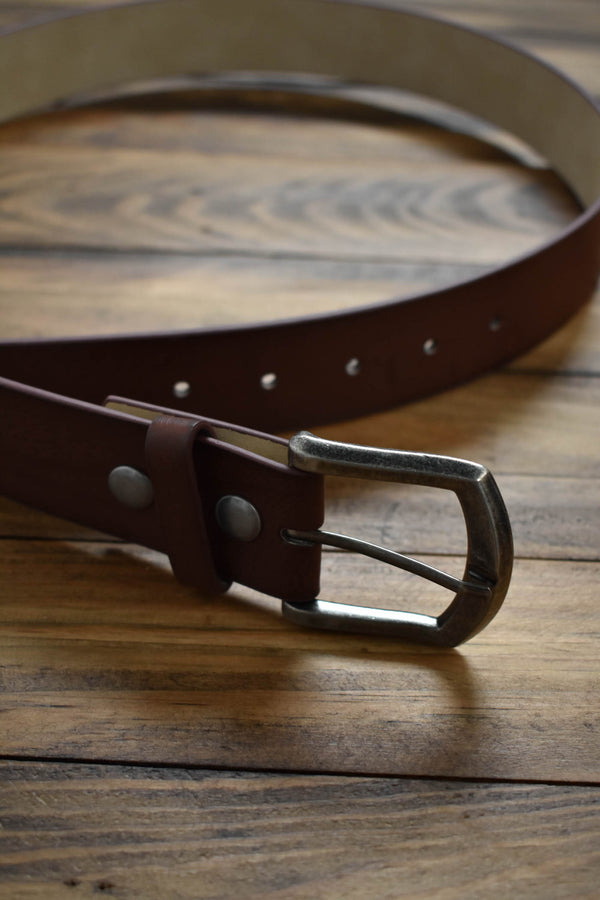 Faux Leather Belt, Brown | Women's Accessories