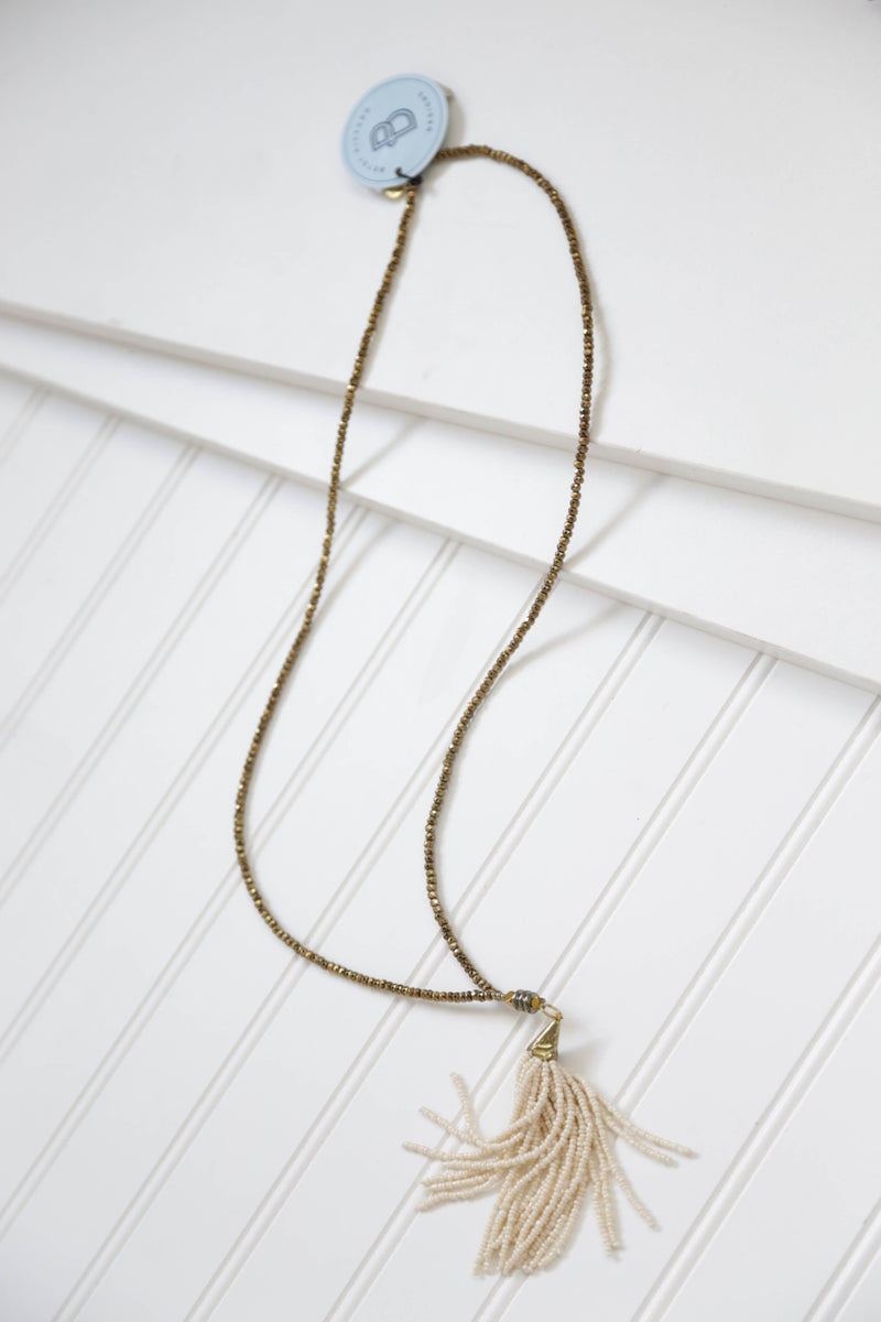 The Hendrix Necklace, Cream | betsy pittard designs