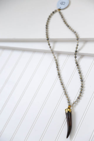 The Coral Horn Necklace, Labradorite | BPD