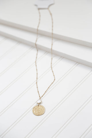 Circle Pendant Necklace, Gold