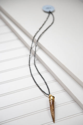 The Lola Necklace, Pewter | betsy pittard designs