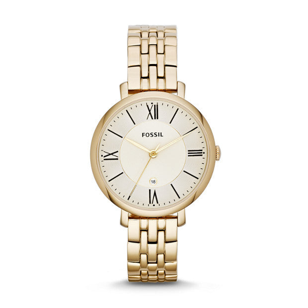 Jacqueline Gold-Tone Stainless Steel Watch | Fossil