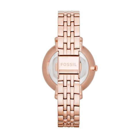 Jacqueline Three-Hand Watch, Rose Gold | Fossil