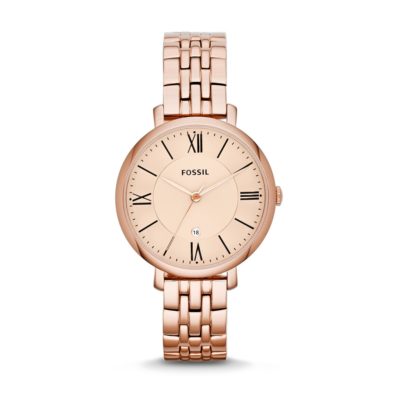 Jacqueline Three-Hand Watch, Rose Gold - The Loft Boutique - Accessory  - 1