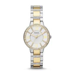 Fossil Virginia Three-Hand Watch, Two-Tone