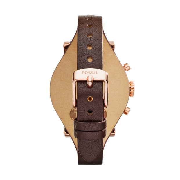Original Boyfriend Chronograph Leather Watch, Raisin - The Loft Boutique - Accessory  - 3