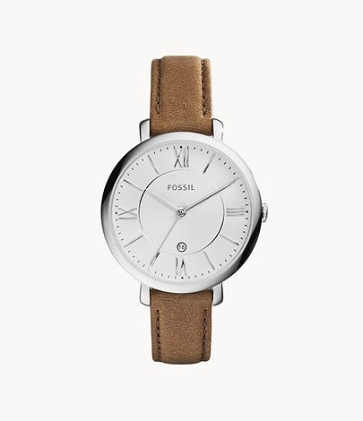 Jacqueline Leather Watch, Brown - The Loft Boutique - Accessory  - 1