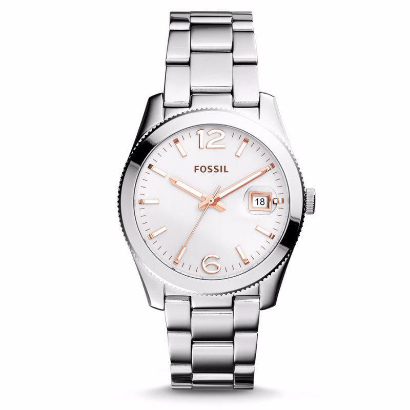 Perfect Boyfriend Date Watch, White | Fossil