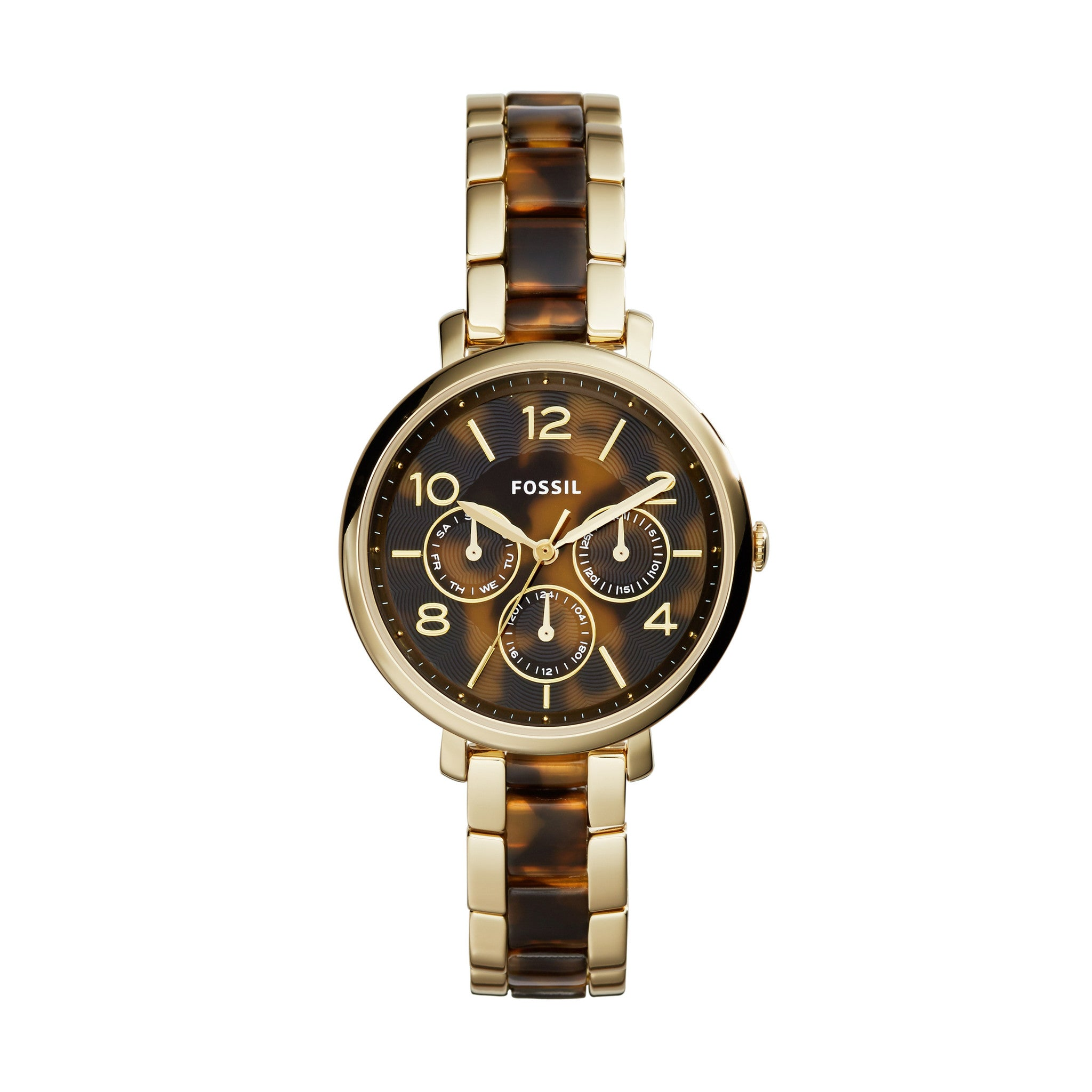Jacqueline Multifunction Watch, Tortoise - The Loft Boutique - Accessory  - 1