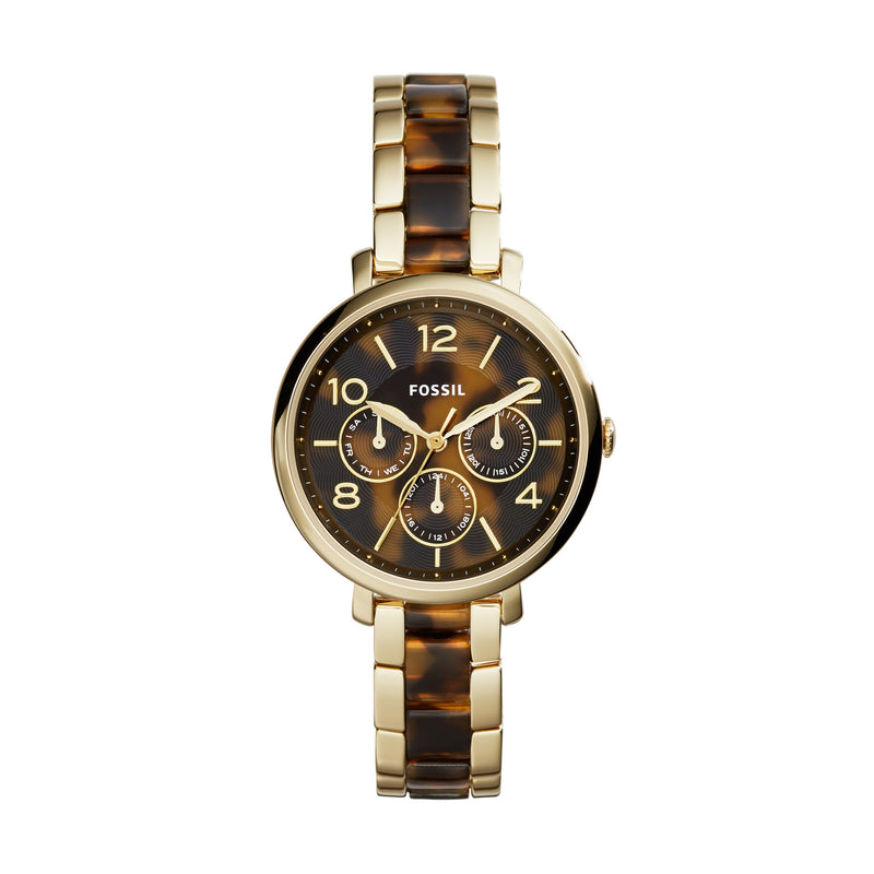 Jacqueline Multifunction Watch, Tortoise by Fossil