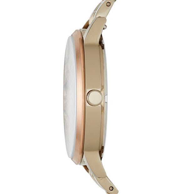 Vintage Muse Beige Gold-Tone Watch Fossil