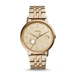 Fossil Vintage Muse Beige Gold-Tone Watch