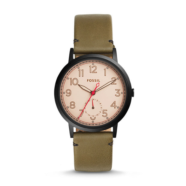 Fossil Everyday Muse Multifunction Leather Watch, Canteen
