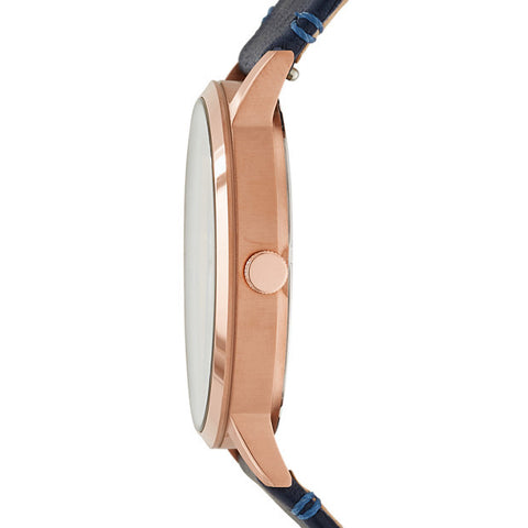 Everyday Muse Multifunction Leather Watch, Indigo | Fossil