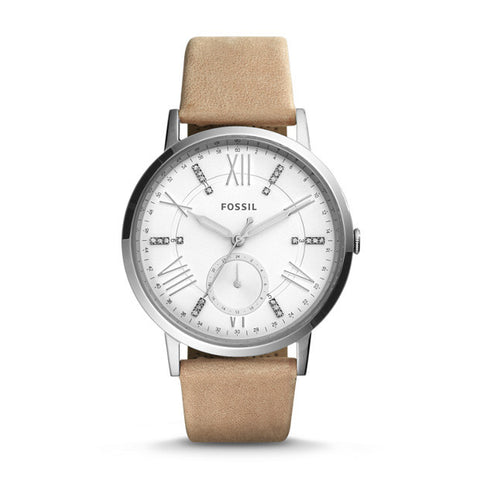 Gazer Multifunction Leather Watch, Sand