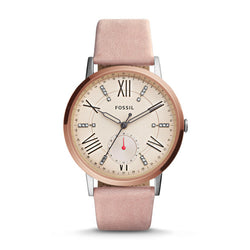 Gazer Multifunction Leather Watch, Blush | Fossil
