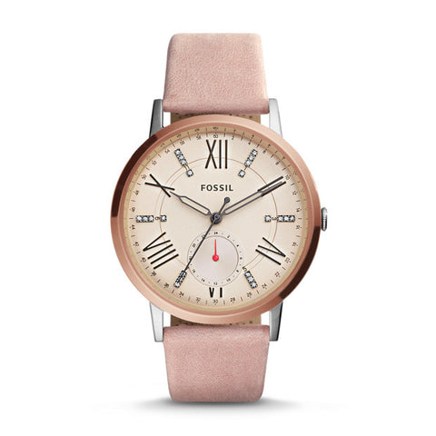 Gazer Multifunction Leather Watch, Blush - The Loft Boutique - Accessory  - 1