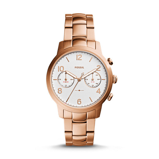 Caiden Multifunction Stainless Steel Watch, Rose Gold-Tone