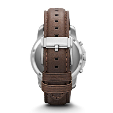 Grant Chronograph Leather Watch, Brown & Off-White - The Loft Boutique - Accessory  - 2