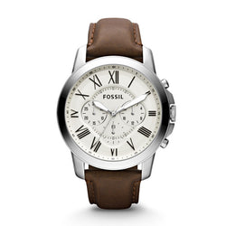 Grant Chronograph Leather Watch | FOSSIL