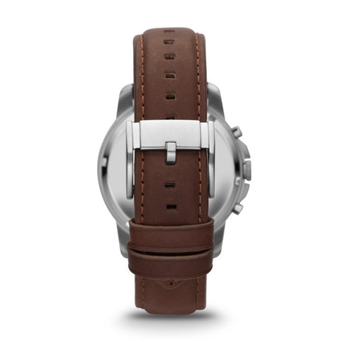 Grant Chronograph Leather Watch, Brown & Charcoal - The Loft Boutique - Accessory  - 2