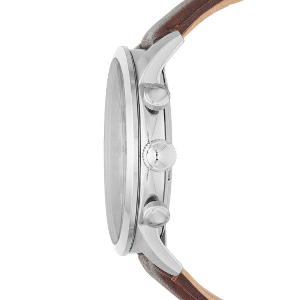 Townsman Chronograph Leather Watch, Brown