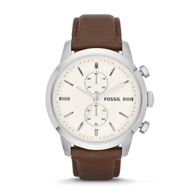 Townsman Chronograph Leather Watch by Fossil